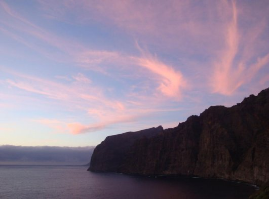 The cliffs in the evening